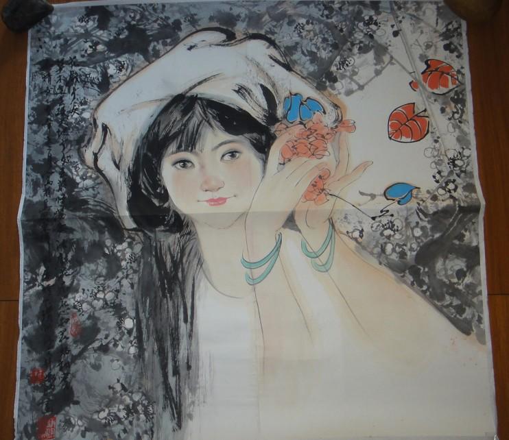 著名旅居国外画家林峥明人物画