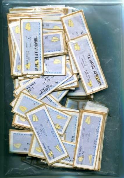 法国纸飞机电子邮票信销票一组450枚