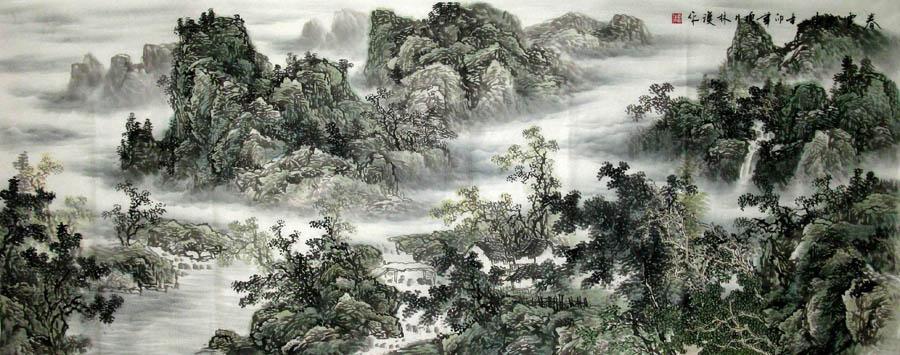 李林田摄影�y.�_李林汉·小六尺国画山水