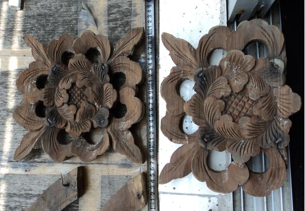 其它品种大卖场 古玩竹木雕漆器 → 蝙蝠角花5个
