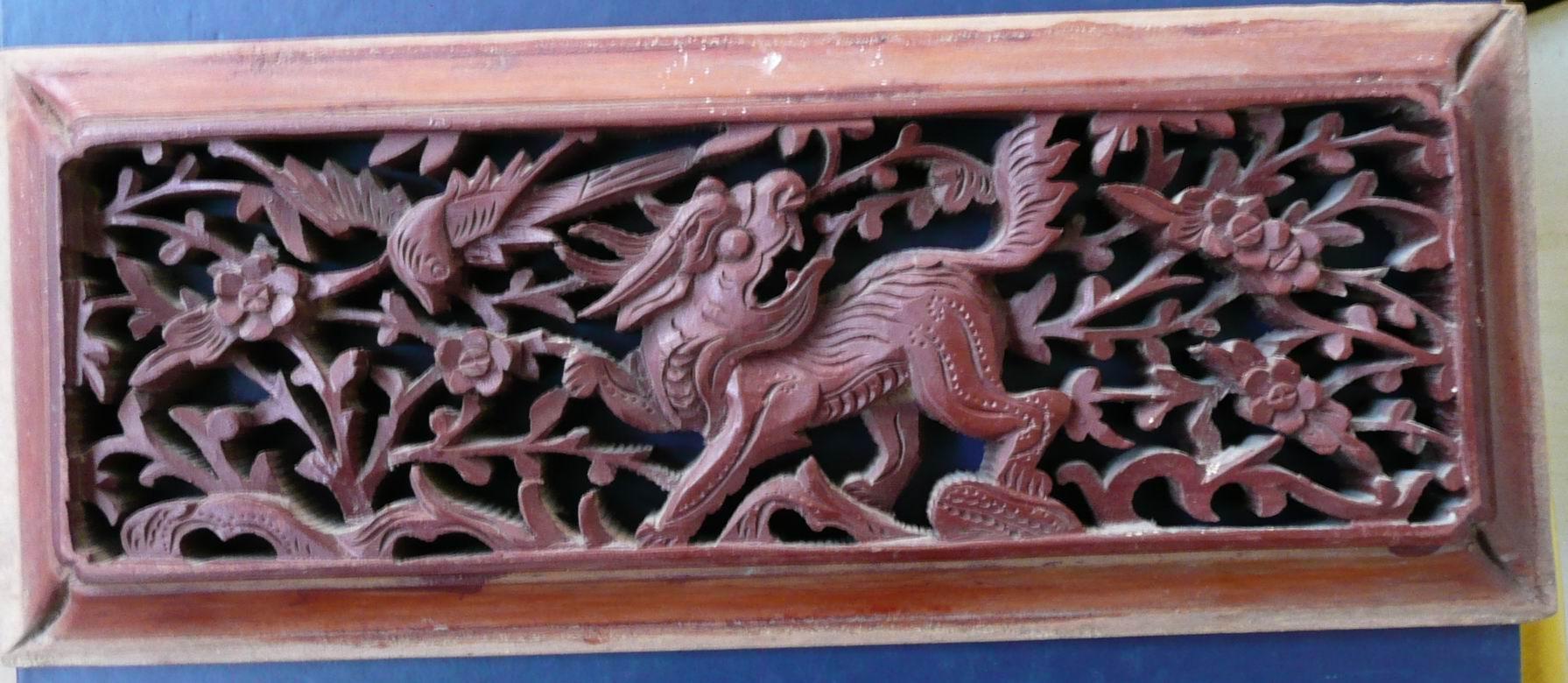 人物动物雕刻楠木板