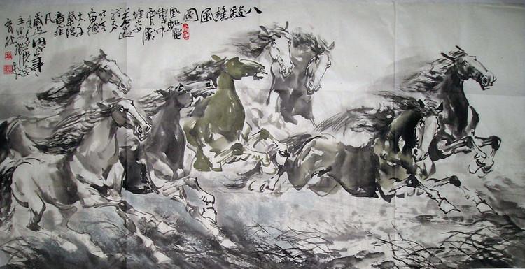当代潜力画家(时育林)动物国画作品