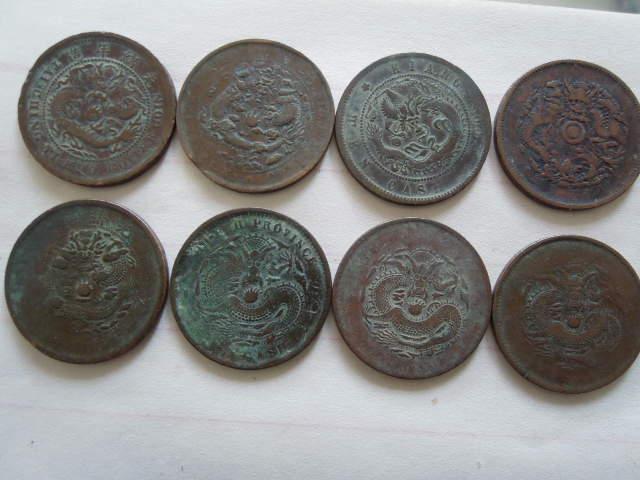 有关铜钱的抽象画