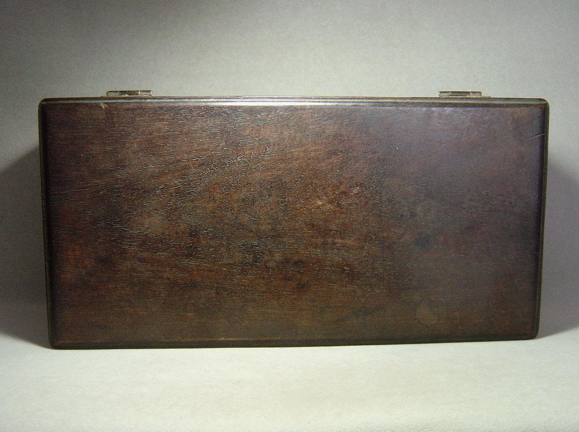 清代紫檀长方形小木箱